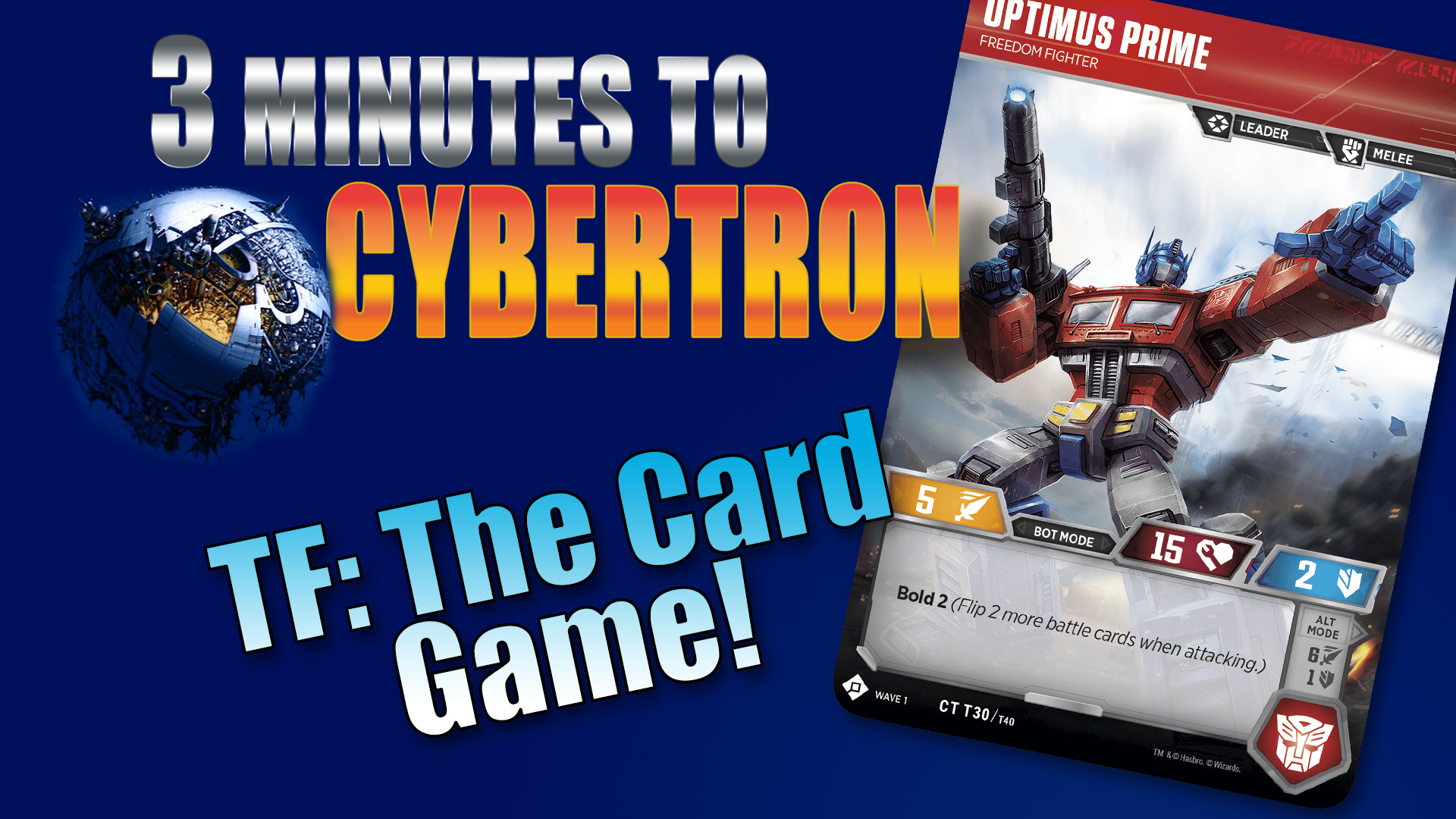 288ae06ca3b4 3 Minutes to Cybertron  Transformers Card Game
